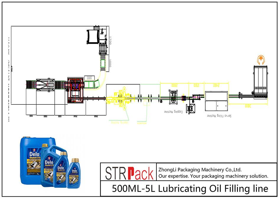 Автоматаар 500ML-5L тослох тослох шугам