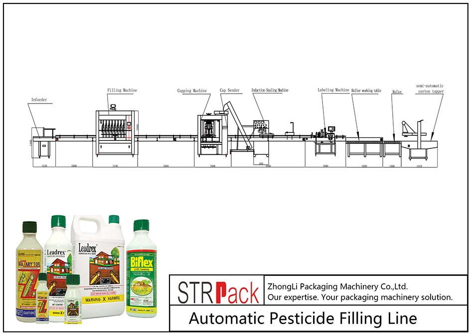 Пестицидийг автоматаар дүүргэх шугам